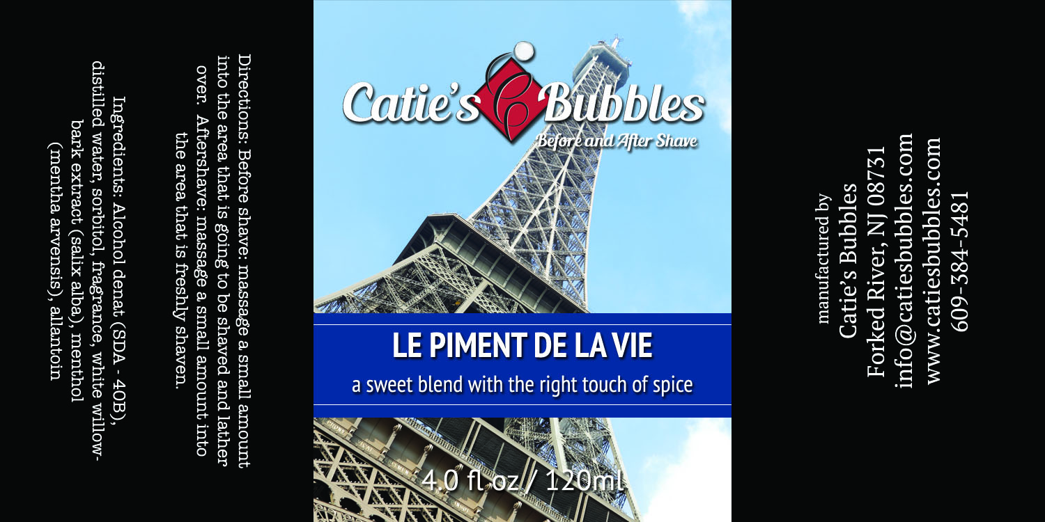 Le Piment de la Vie Before and After Shave
