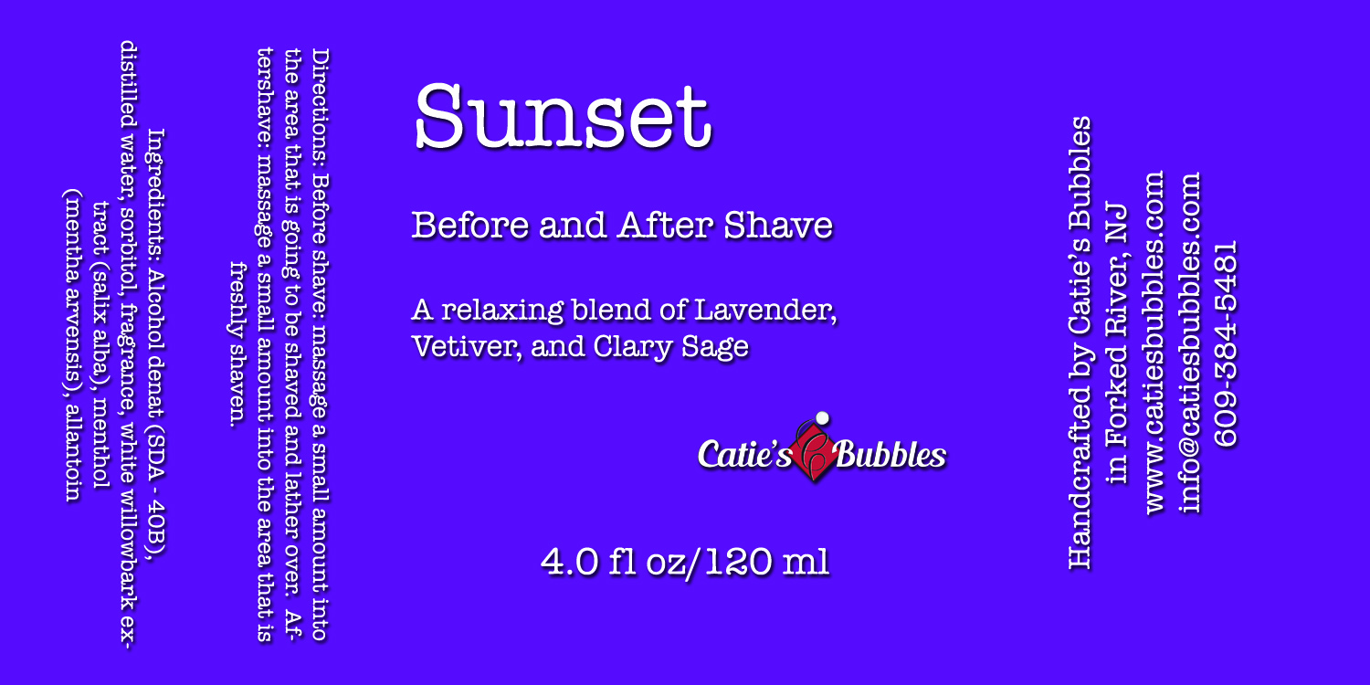 Sunset Before and After Shave