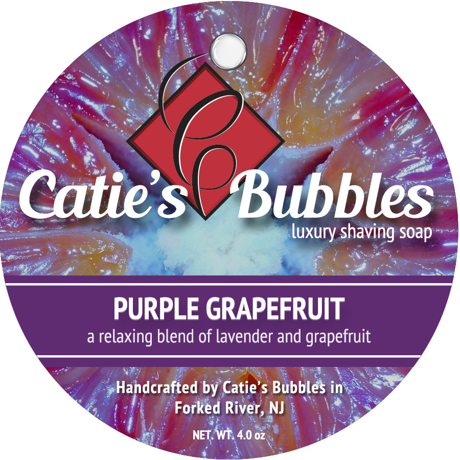 Purple Grapefruit Luxury Shaving Soap